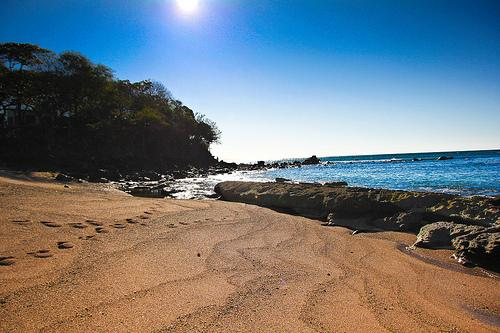 The Private Beach, enjoy swiming and even walking trough a very large area of shallow waters.