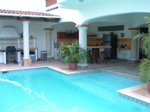 Pool and Kitchen Area