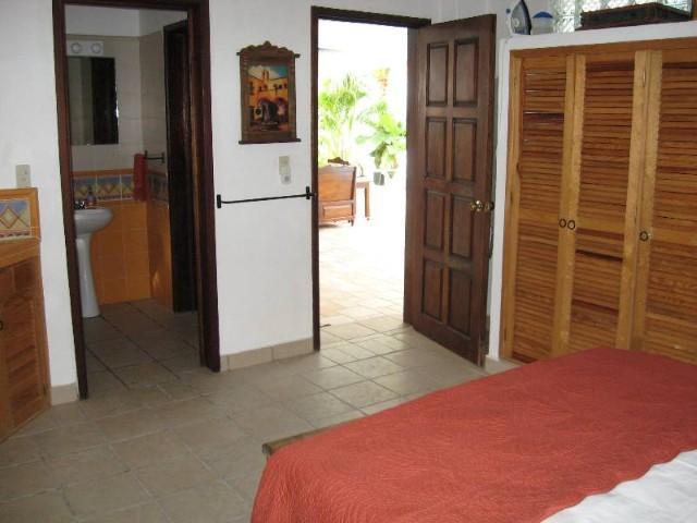 Main Floor Orange Room View 3; Bathroom & Entranceway