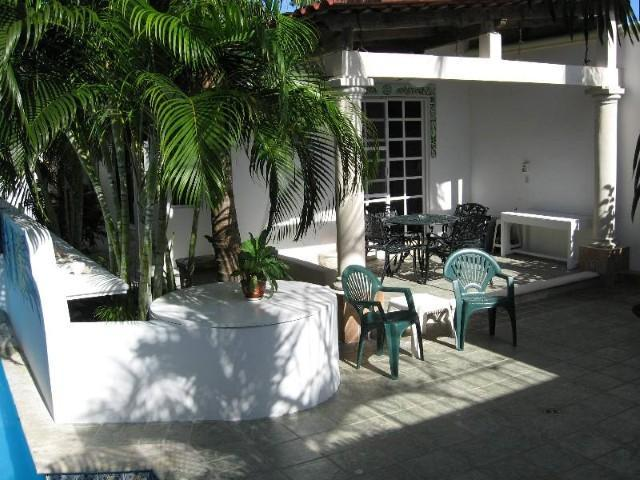 Patio and entrance to the main floor Casita