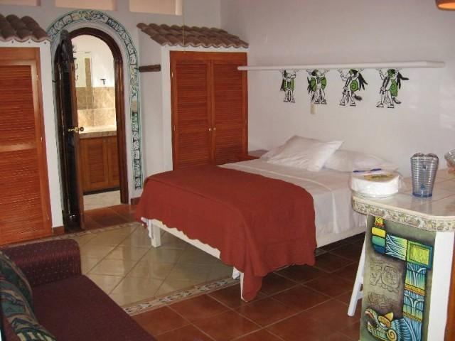 Casita Kitchenette with Queen Bed View 1