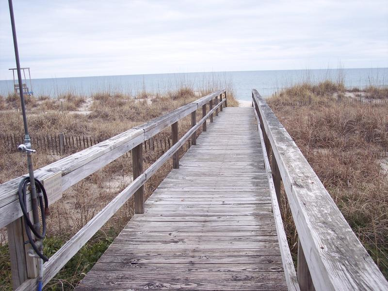one of the two walkways to beach