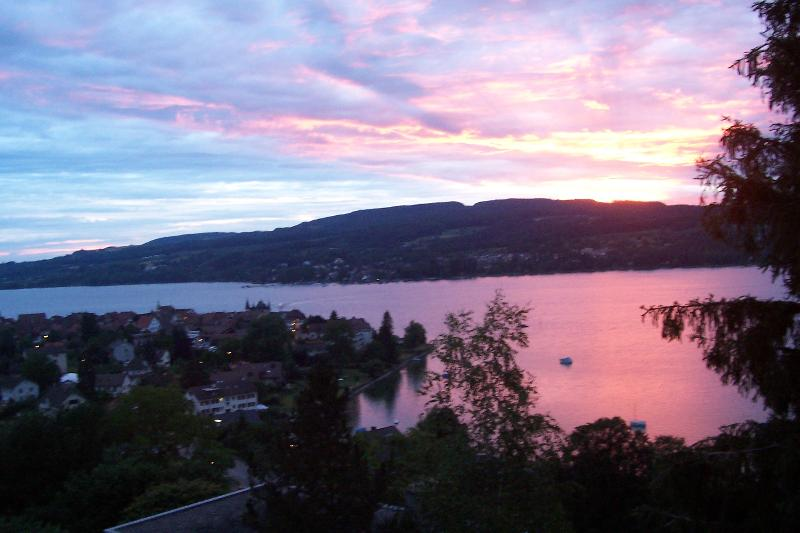 Sunset over Lake Constance, View from the Balcony