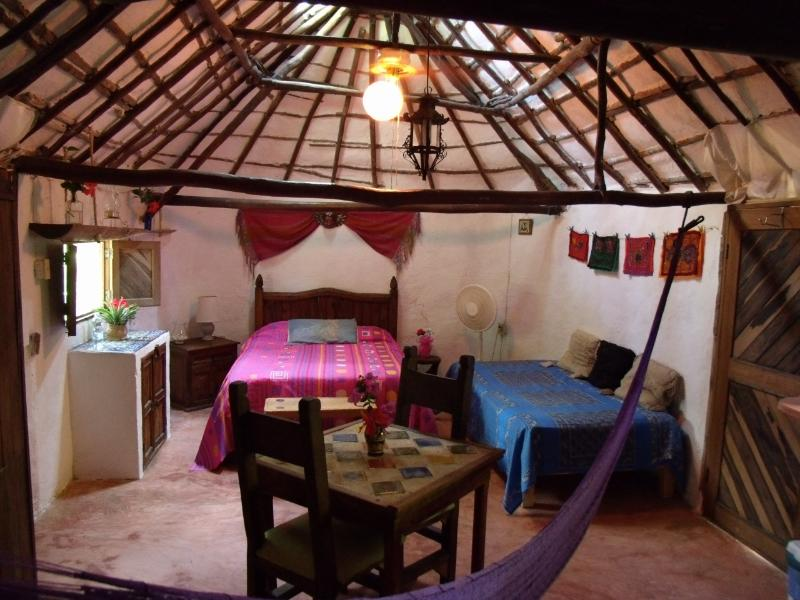 An authentic Mayan Hut converted into a room