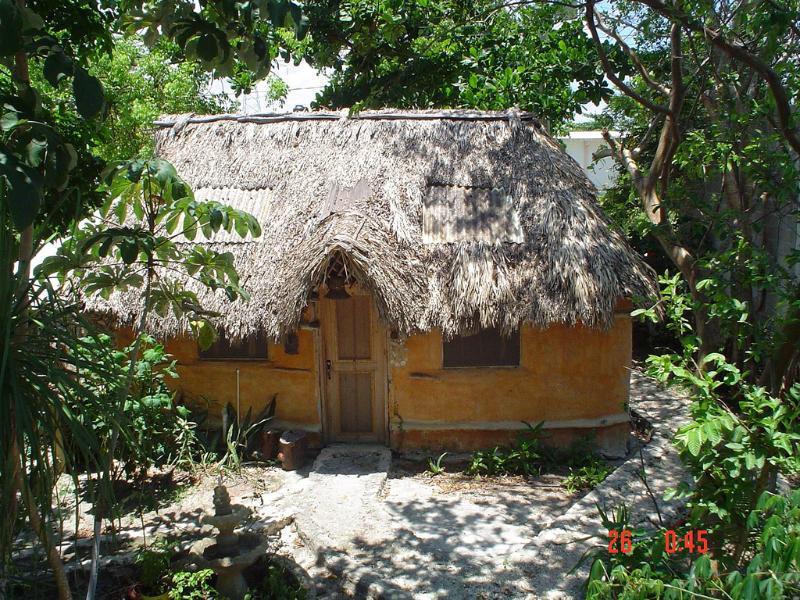 Casitas Kinsol habitación # 8 - Una auténtica cabaña maya con un techo de paja - Casi un punto de referencia en la ciudad -