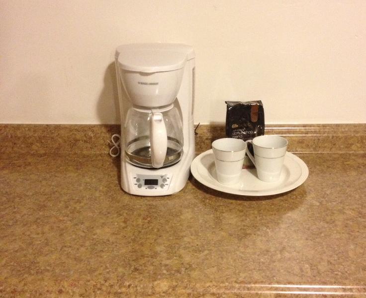 Aufwachen und Kaffee
