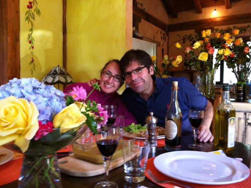 Your hosts in Casa Monica, Janine & David