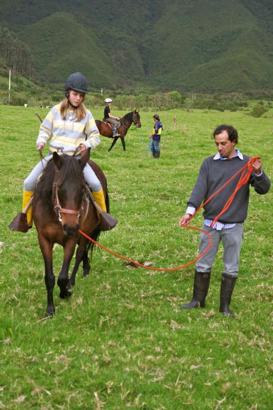 Horseback riding lesson...