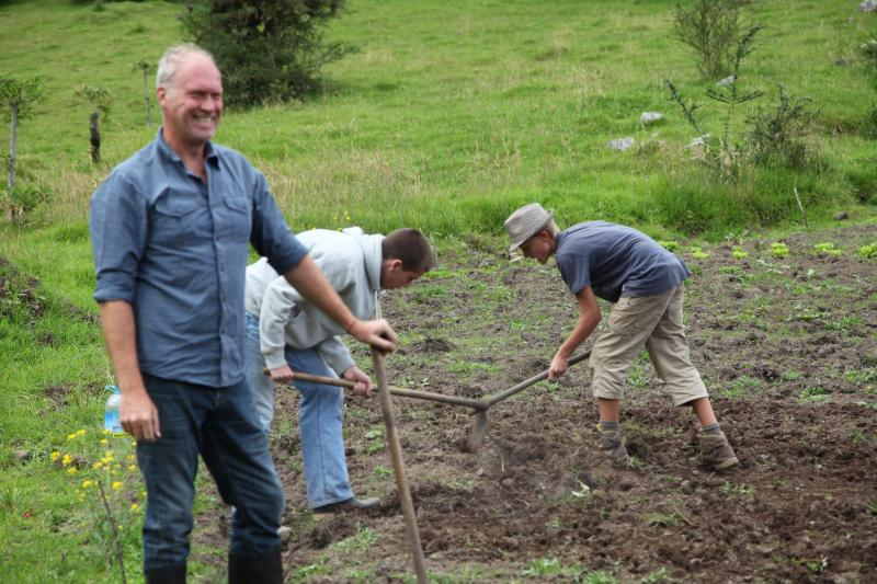 If you want you can help us work the land... Optional and great fun!