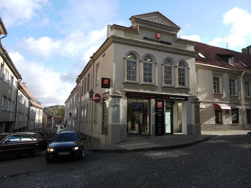 Historic Old Town building in which apartment is located; entrance to right of store.