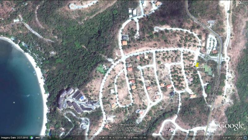 Vista de satélite da subdivisão de Terrazas