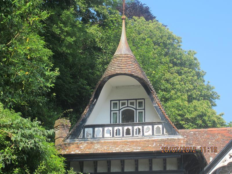 La torreta de la entrada entrada