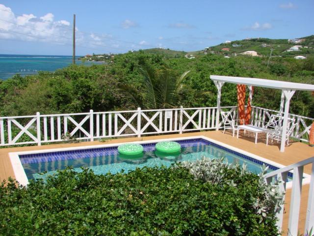Very from Porch over pool to Ocean