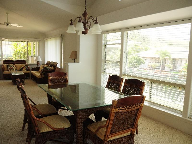 Bright and airy dining/living area.