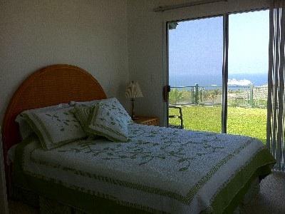 Bedroom 2 with queen size bed plus ocean view.