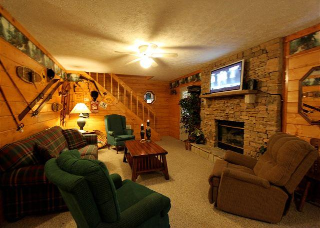 Woodhaven #1741- Downstairs Living Room with TV
