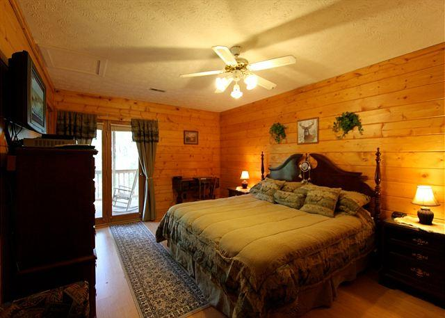 Woodhaven #1741- Bedroom with TV
