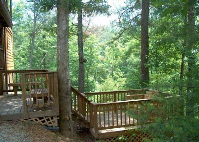 Woodhaven #1741- Outside Deck of the Cabin
