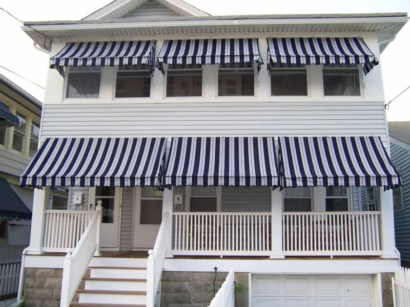 Lovely awnings and front porch