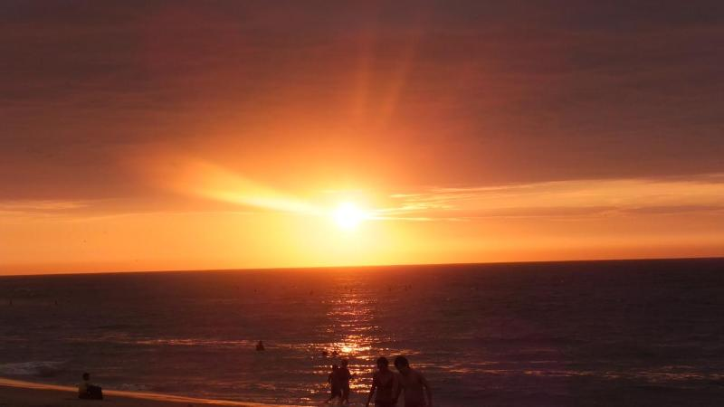 Amazing Sunset in the to Share at Las Pocitas Beach