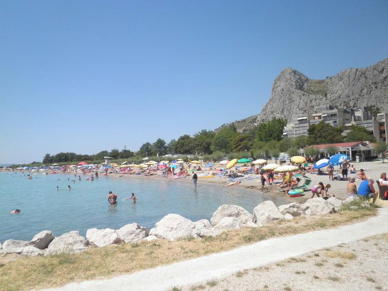 Central sandy beach