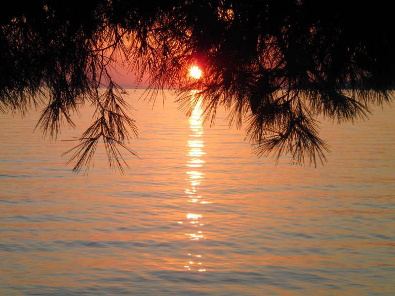 Romantic sunset at Zvizdan beach