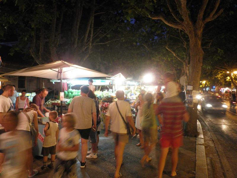 Busy night on main street