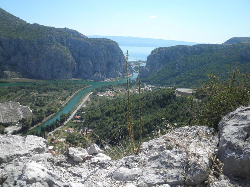 A look at Omiš and river mouth