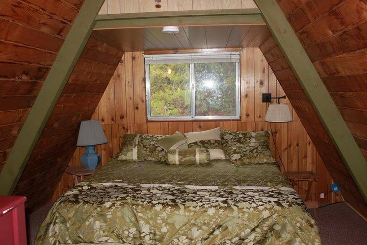 King bed in the loft