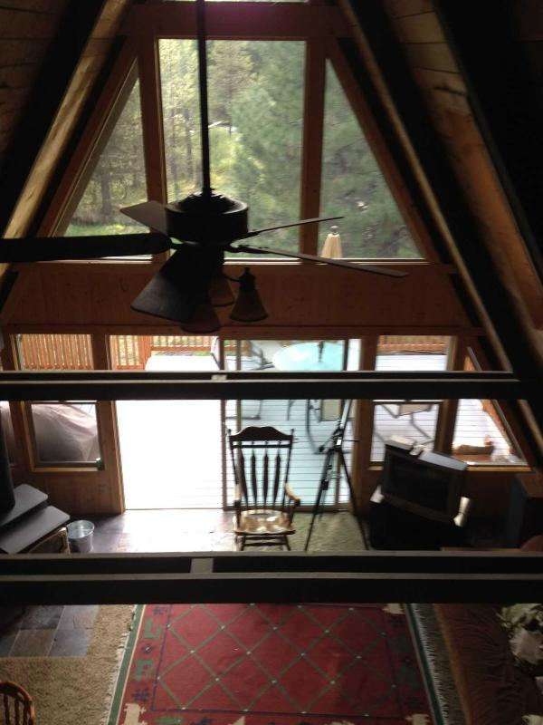 Living room as viewed from the loft