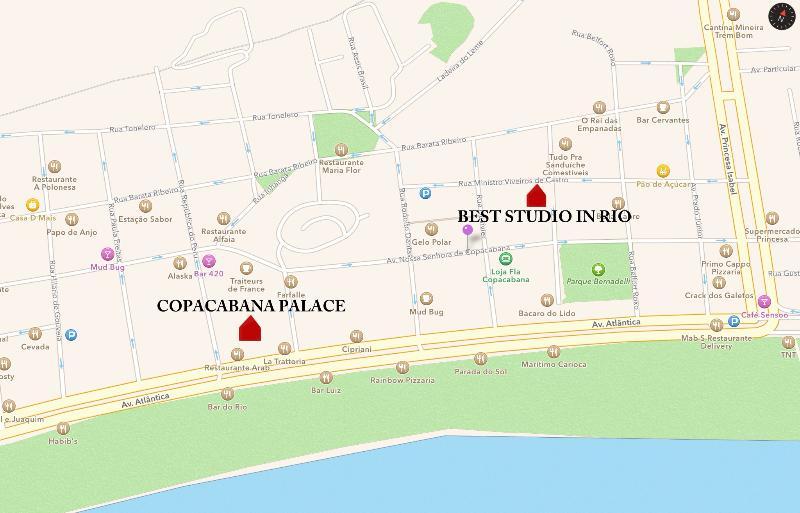 1 cuadras de playa, 2 del Copacabana Palace