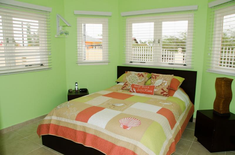 Bella Suite #2:  This bedroom is shaped like a hexagon. (Queen Bed)