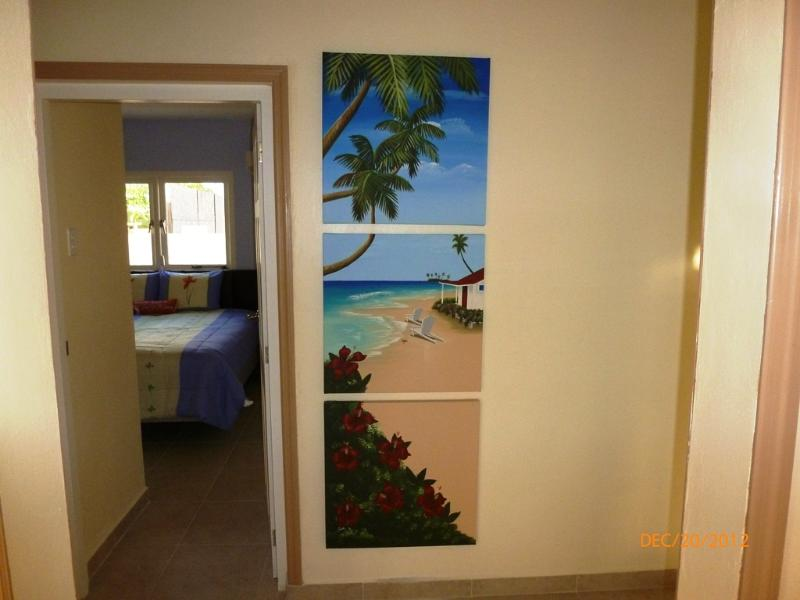 The entrance to Bella Suite #3 - you customize the floorplan!