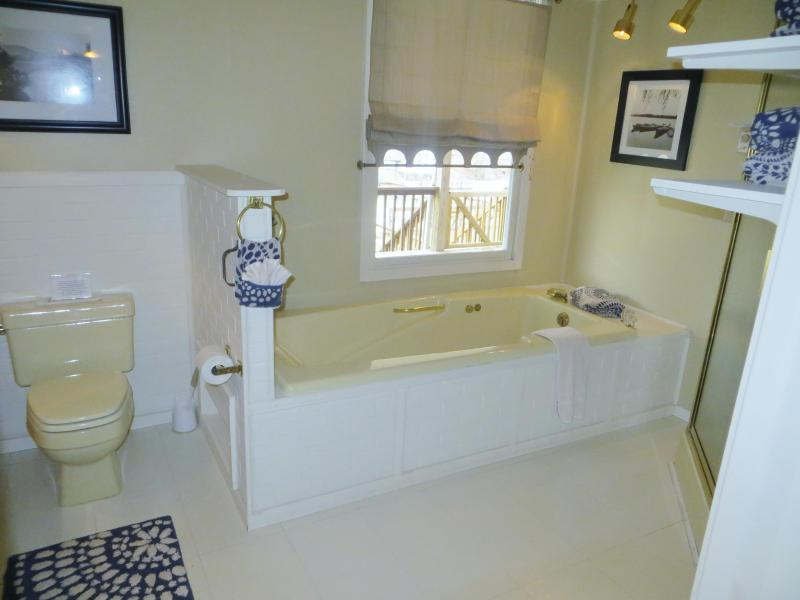 Master bath, incl. stand-up shower