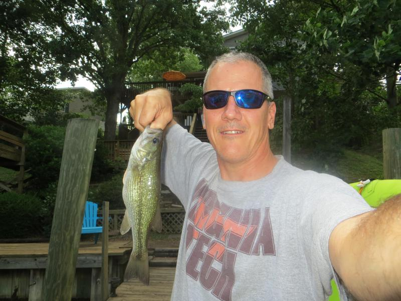 Bass catching on Claytor Lake