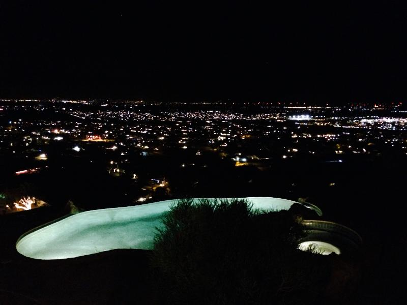 Night View from Pool of City Lights