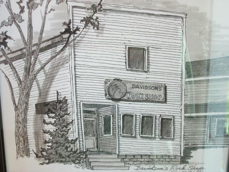A sketch of the building that was on this site from 1876-2012.