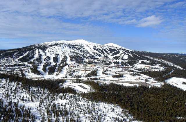 Aerial view of Big White Ski Resort