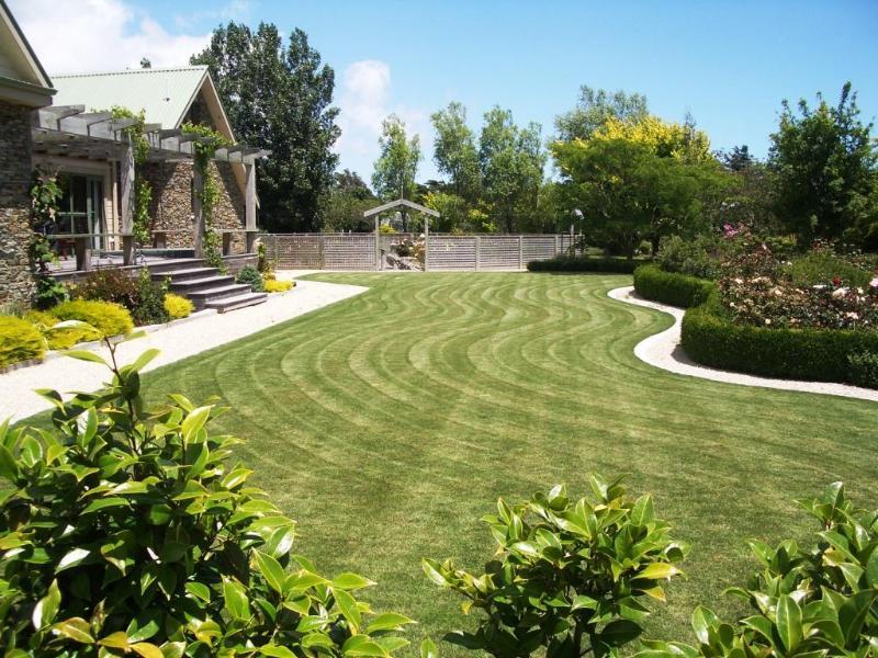 View across front garden