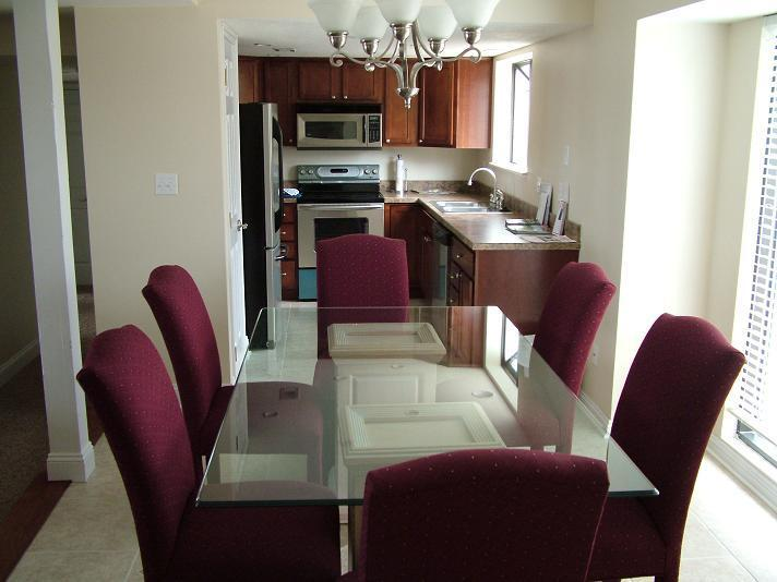 Large Dining Area w/ Glass Table