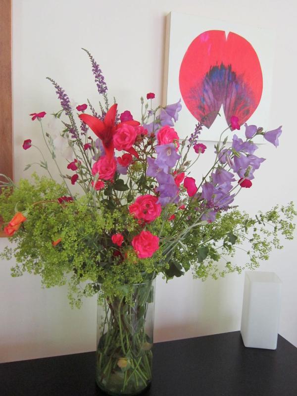 Flores de cortesia quando na estação