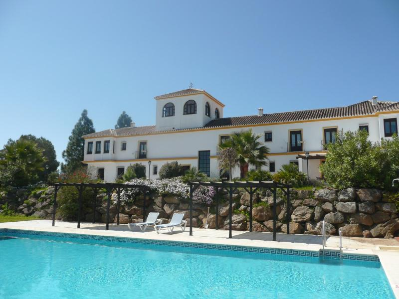The Cortijo seen from the back with pool