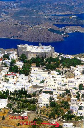 Overall view of Chora, Patmos