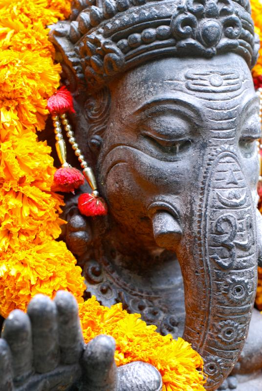 Ganesha te saluda a la entrada