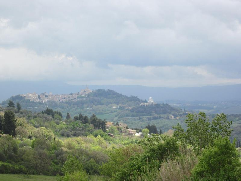 View of the medieval town of Todi from the property premises