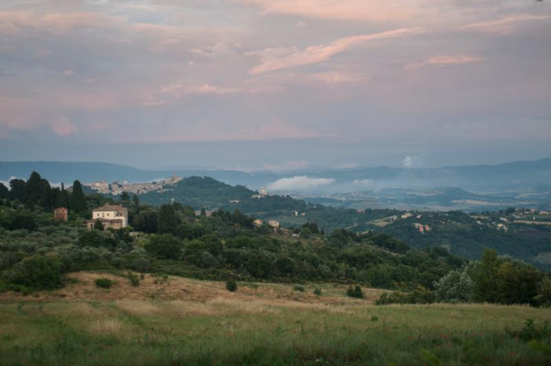 View of the town of Todi near our house
