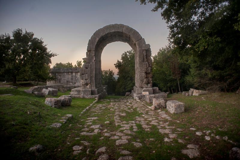 Roman ruins near Palazzaccio Todi