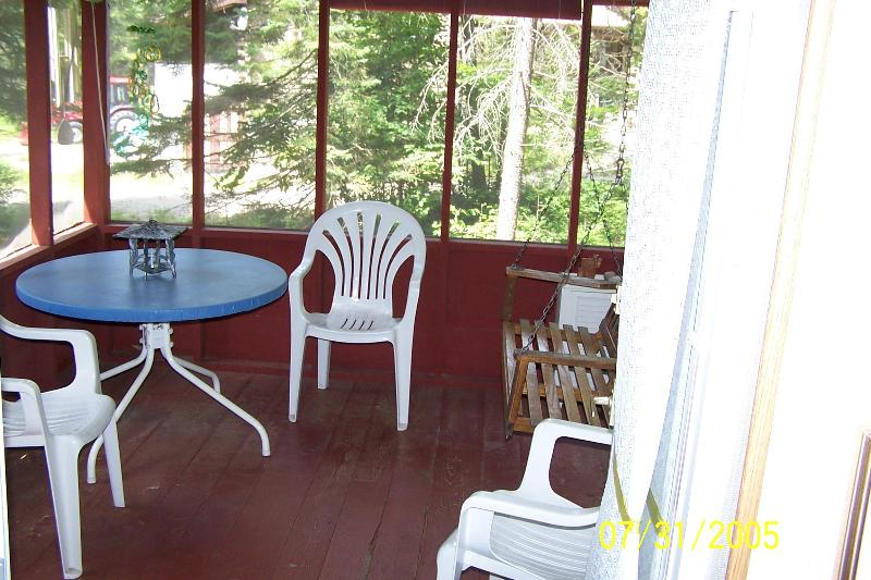 The screen porch is wonderful!