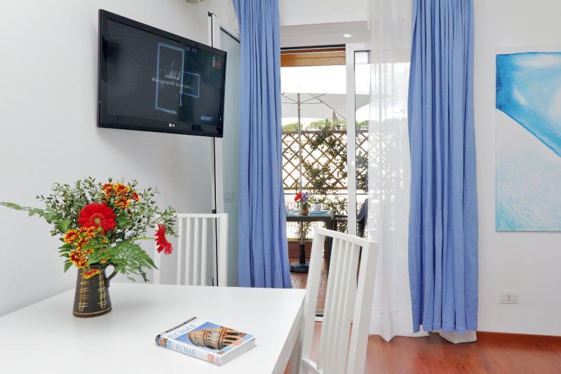 Fenster und Terrasse