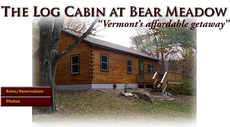 Vermont Log Cabin available for weekend and weekly, holiday rental in Chesterfield